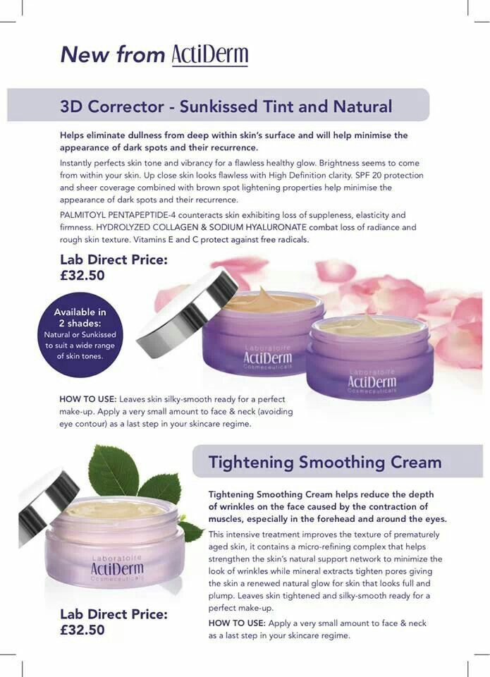New products available on hostess rewards from April 2014 or direct to your home ordering at http://www.actiderm.co.uk/me/jennifer-harley/