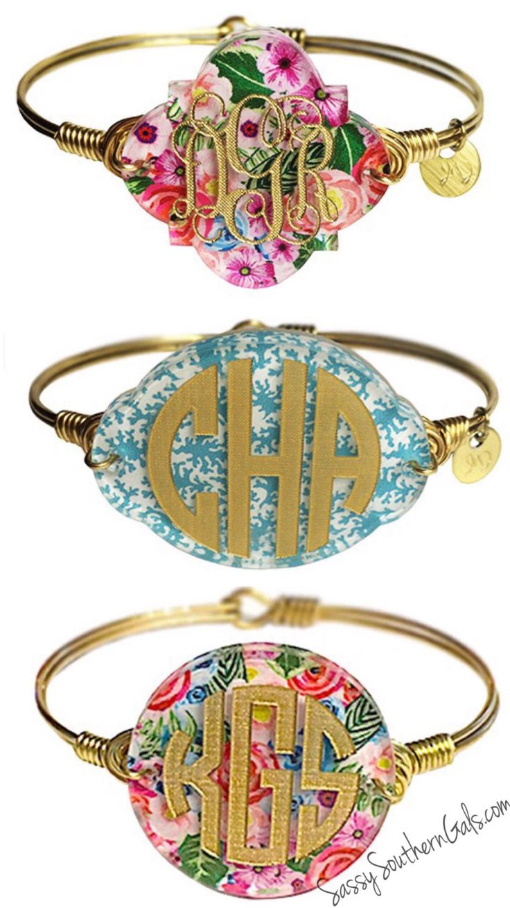 Monogram Acrylic Bracelet | Gift For Her | Wire Wrap Bangle | Handmade Jewelry by SassySouthernGals on Etsy https://www.etsy.com/listing/385202874/monogram-acrylic-bracelet-gift-for-her