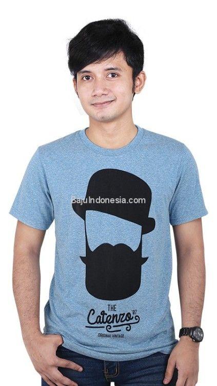 Kaos pria CTN 19-64 cotton biru L-XL. Rp 163.750. #baju...