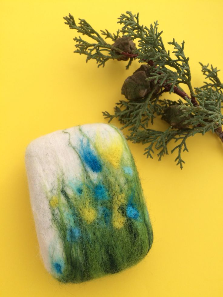 Felted wool soap