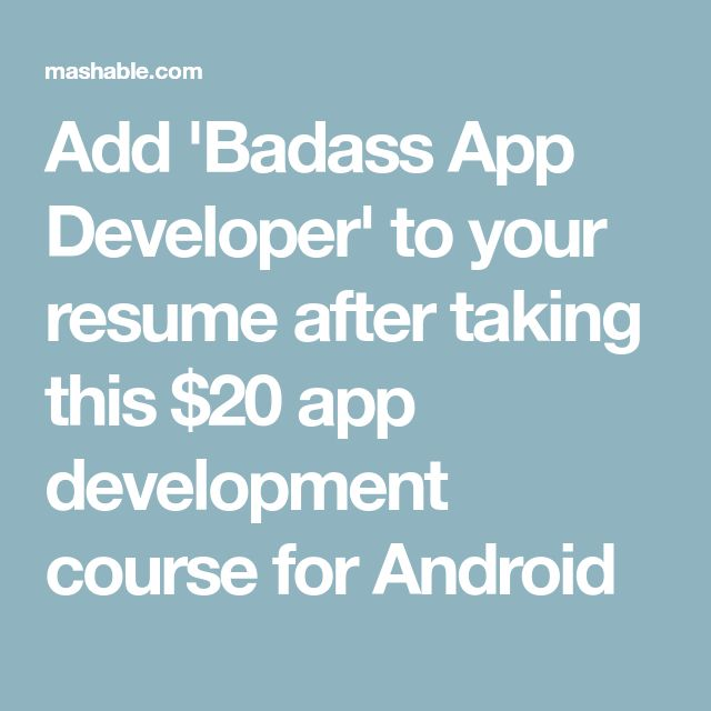 The 25+ best Android development course ideas on Pinterest - iphone programmer sample resume