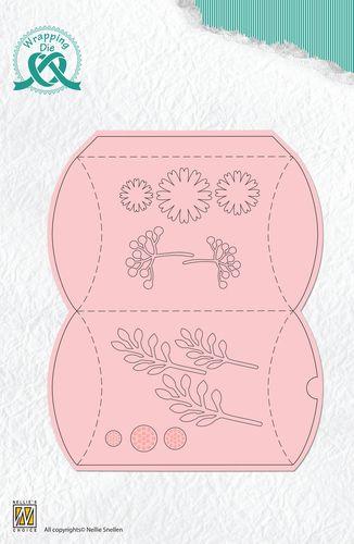 Nellie's Choices vágósablonok : Vágósablon - Pillowbox and flowers