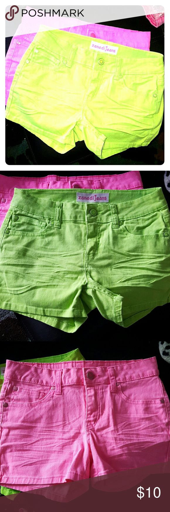 2 Pair of Neon Shorts-NWOT One Hot Pink and One Neon Green shorts NWOT Never worn Zanadi Jeans Bottoms Shorts