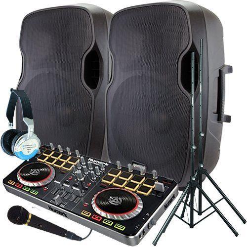 dj speakers clipart. serato software dj system \u2013 numark mixtrack pro ii a pair of 1200 watt powered speakers w/stands, microphone, headphones and dj clipart w