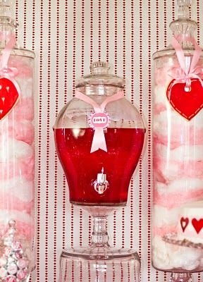 love potion { hawaiian punch } Would be cute at an engagment, wedding or anniversary party too! :)