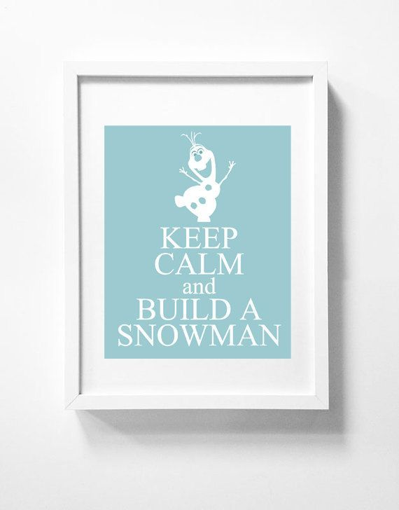 Disney's Frozen printable wall art Olaf Disney Poster Movie Blue Wall…