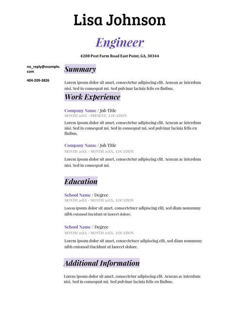 7 best resume templates images on Pinterest Resume templates - engineering resume