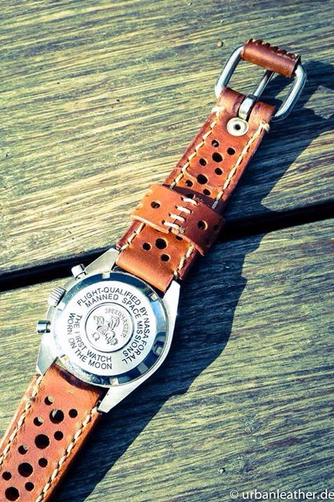 Watchstrap , Omega, Speedmaster, Moonwatch, leather strap, Uhren, Armband, Uhrenarmband ...