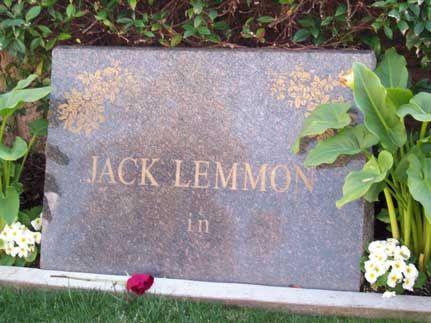 Jack-Lemmon-Tombstone.jpg #BevisFuneralHome #Gravesenseofhumor
