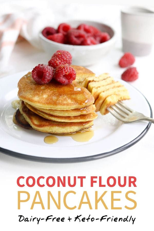 Coconut Flour Pancakes Dairy Free Keto Friendly Detoxinista Recipe Dairy Free Pancakes Coconut Flour Pancakes Coconut Flour Recipes