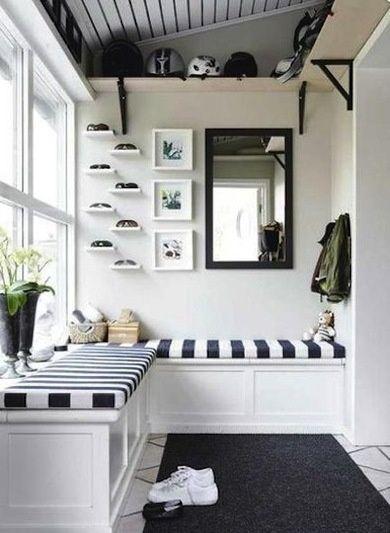 Black and White - Mudroom Ideas - interiors-designed.com
