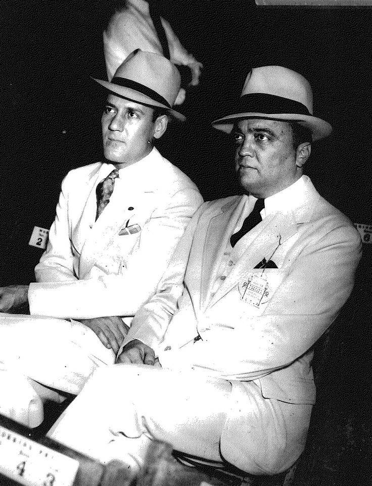 J. Edgar Hoover and Clyde Tolson --
