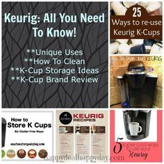 Keurig:  All You Need To Know - Unique Uses, How to Clean, K-Cup Storage Ideas and K-Cup Brand Review!