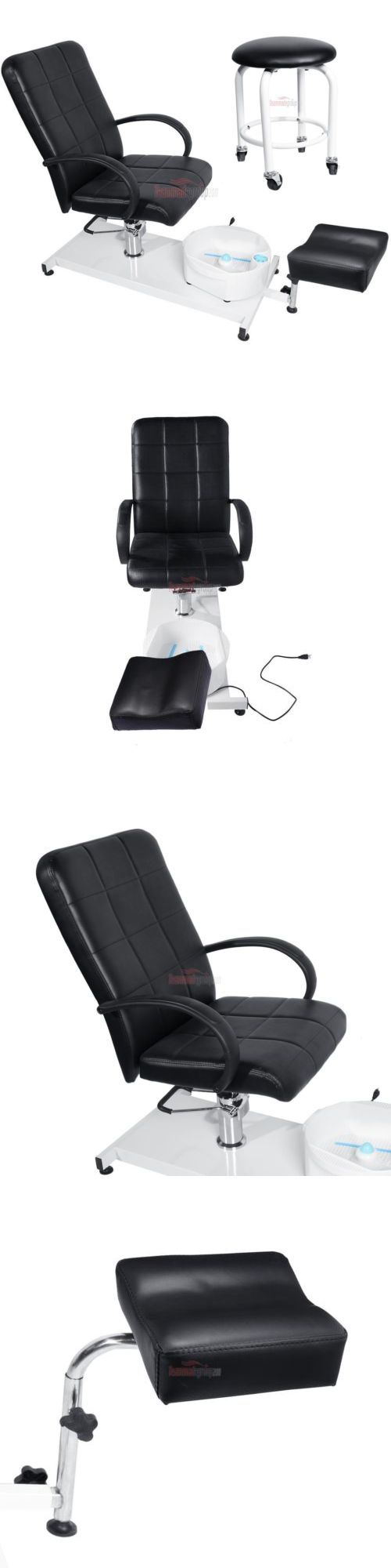 Spas Baths and Supplies: Black Pedicure Station Hydraulic Chair And Massage Foot Spa Beauty Salon Equipment BUY IT NOW ONLY: $284.9