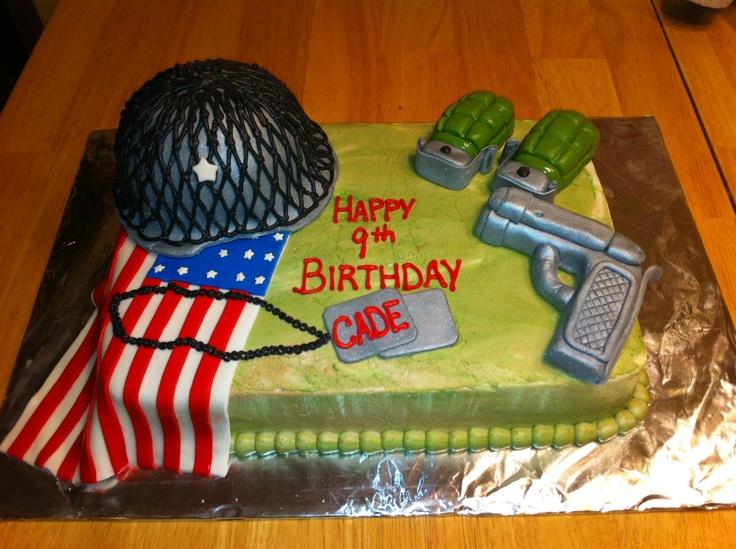 Army birthday cake: Kids Army Cake, Army Birthday Cake Ideas, Birthday ...