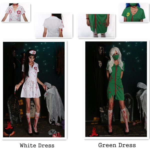 Halloween Nurse Costume Women Zombie Cosplay Vampires Role Play... ($26) ❤ liked on Polyvore featuring costumes, womens costumes, womens halloween costumes, womens vampire halloween costumes, zombie costume and vampire halloween costumes