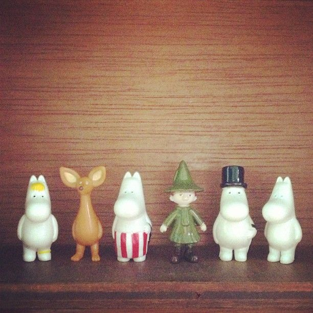 Moomin board game pieces