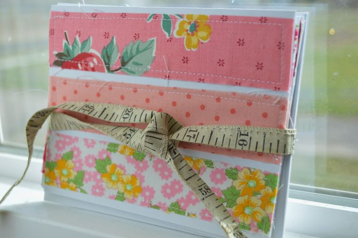 THE QUILT BARN: Scrappy Fabric Card Tutorial