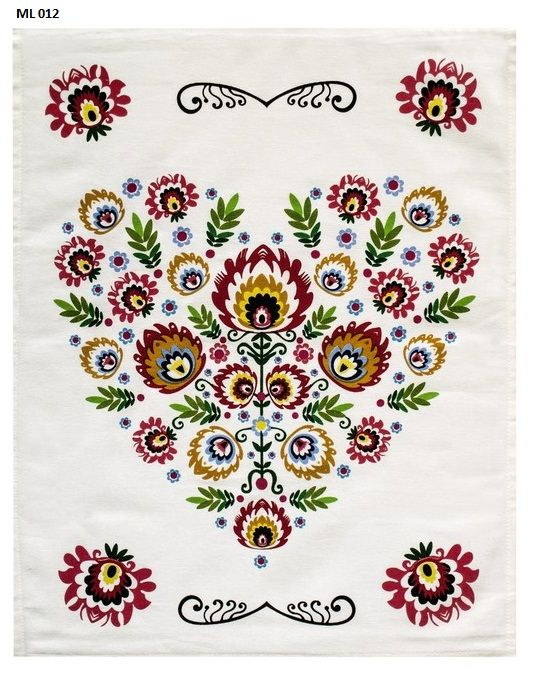 Łowieckie wzornictwo ścierka bawełniana w kolorze białym