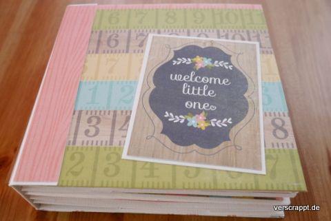 Baby-Girl-Mädchen-Mini-Album-Minialbum-Geburt-Geschenk-Cover