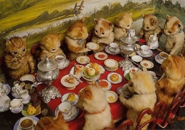 : Victorian Art, Teas Time, Party'S, Cats Party, Tea Parties, Walter Potter, Teas Party, Kittens, Crazy Cats Lady