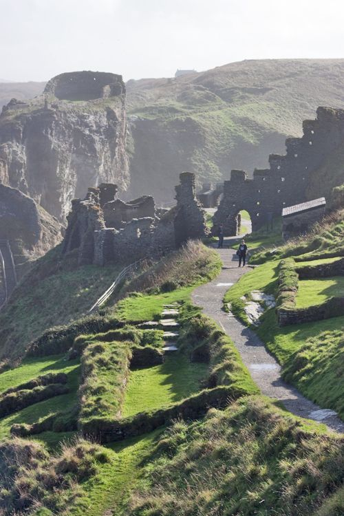 Tintagel Castle Cornwall. I've always chickened out so I'm determined to brave the steps and actually visit the castle this time!