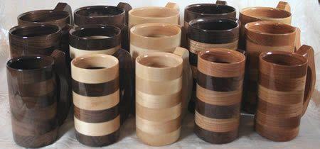 Wood Mugs, Wood Tankards, Wood Steins, Wood Goblets and Wooden Beer Mugs - groomsman gift idea