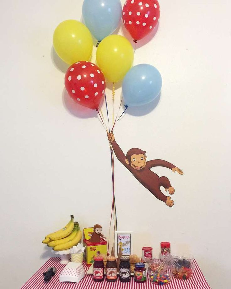 What an awesome Curious George backdrop!! See more party ideas and share yours at CatchMyParty.com