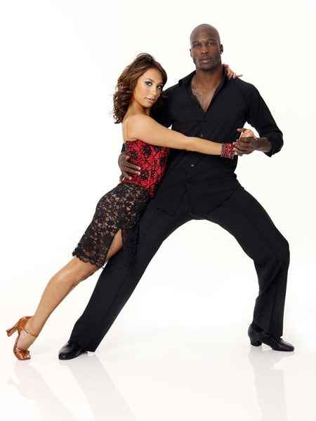 Cheryl Burke and Chad Ochocinco in Dancing with the Stars. This was the time that I fell in love w/this man.
