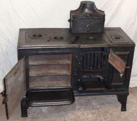 Antique Wood Coal Electric Kitchen Range