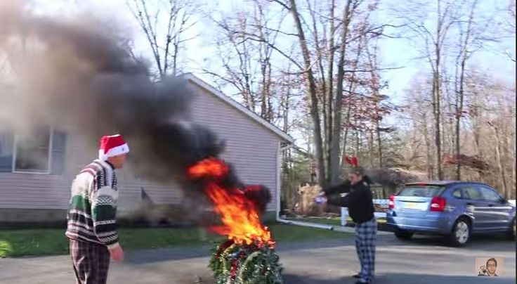 Psycho Kid Torches Christmas Tree - http://www.flickr.com/photos/132985713@N07/19863798588/