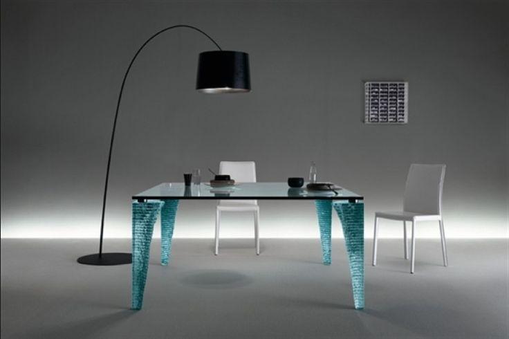 GlazenDesignTafel.nl   Glazen eettafel Atlas   FIAM   Italian design   Glass table by Danny Lane   vidre glastoepassingen, Leiden   vidre.nl
