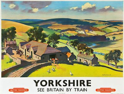 Yorkshire Dales railway poster pinned by www.realyorkshiretours.co.uk