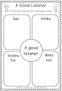 Good Listener Anchor Chart for Back to School - Clever Classroom Blog