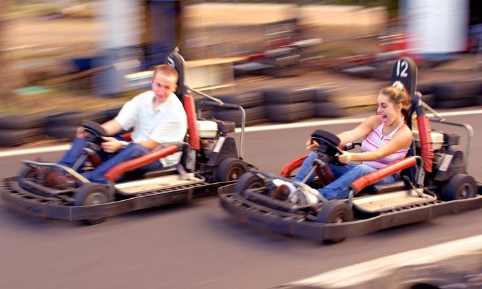 Cooter's Place - Gatlinburg: Go Kart Races and Mini-Golf for 5, or Go-Kart Races for 2 at Cooter's Place (Up to 51% Off). 3 Options Available.