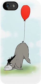 """""""Eeyore and his Tail"""" iPhone & iPod Cases by shoshgoodman   Redbubble"""