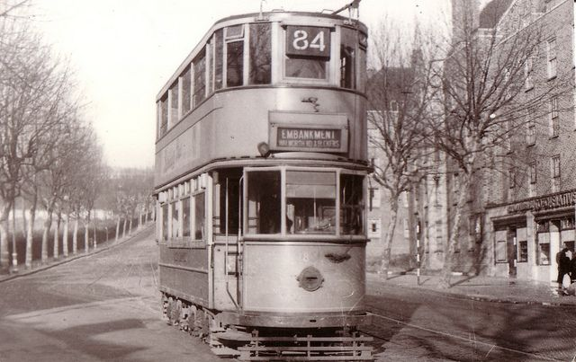 London tram on the Embankment