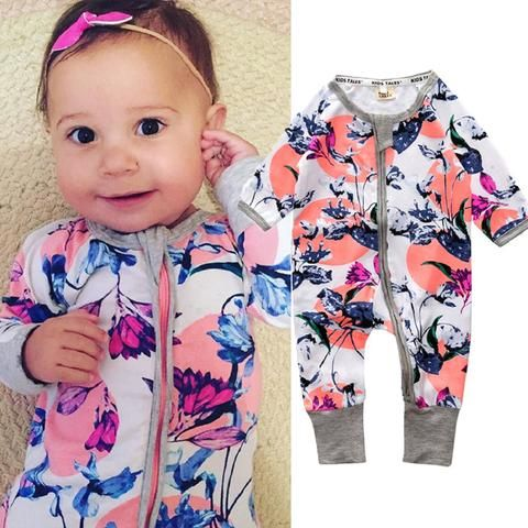 New zipper design baby s romper long-sleeved Unisex Baby Whale Romper  Newborn Jumpsuit Infantil Baby Clothing BR122 9a17d6b8f