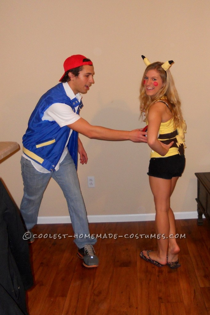 Coolest Pikachu And Ash Ketchum Handmade Couple Costume