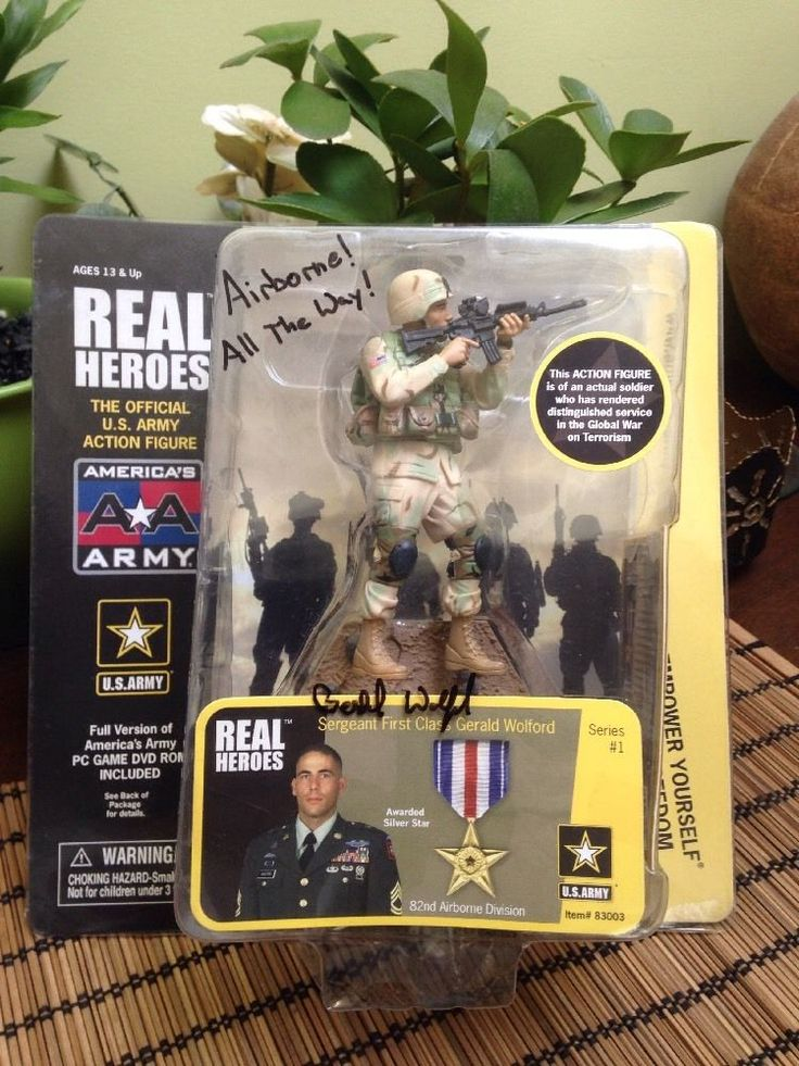 Promotional Edition America's Army Real Heroes SFC Gerald Wolford Autographed…
