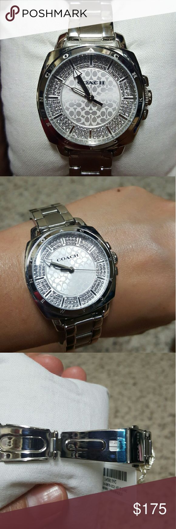 Coach watch Women's watch with swarovski crystals. Brand new in box. Comes with booklet Coach Accessories Watches