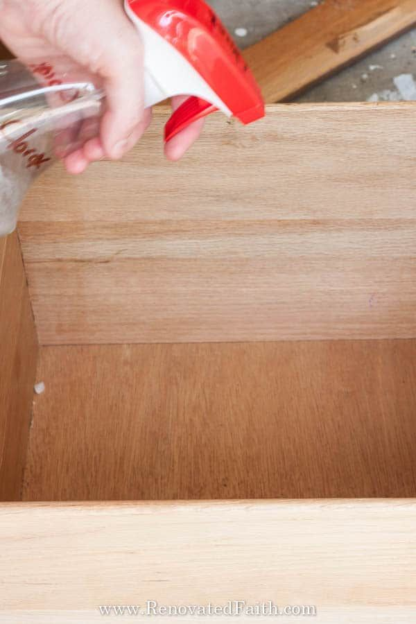 Coastal Blue Dresser Makeover With, How To Get Mold Smell Out Of Laminate Flooring
