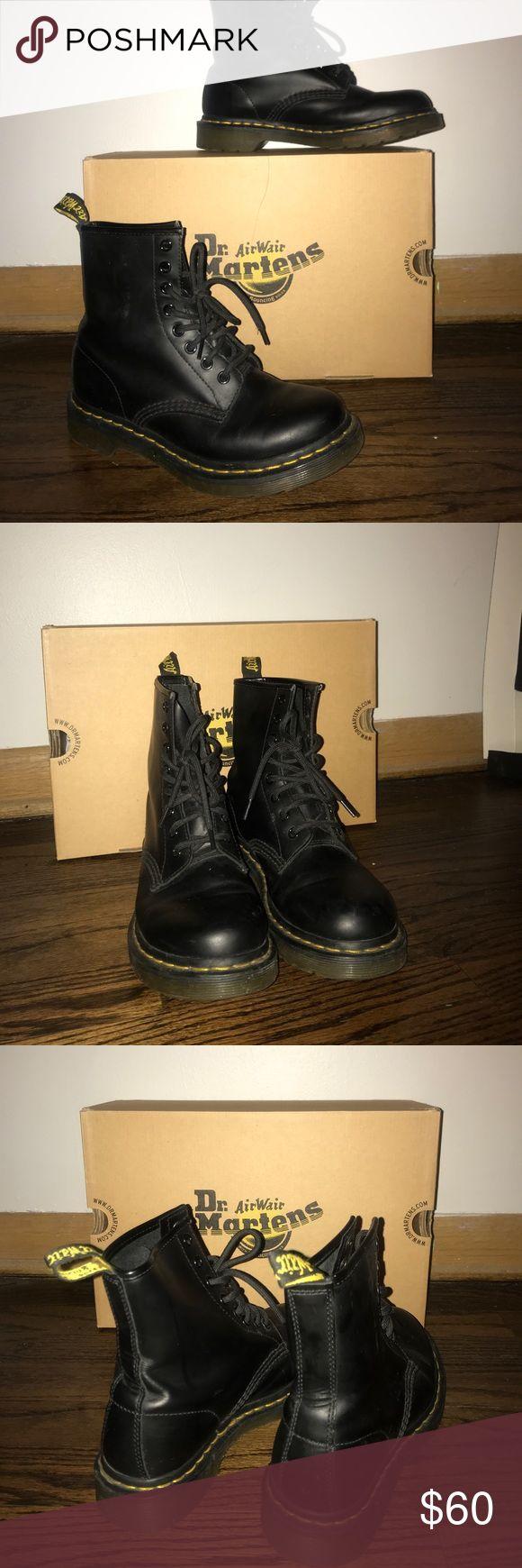 Dr. Martens Shoes Womens Black Size 6 For sale!! Worn once! Womens Black Dr. Martens Air Wair Size 6!! Dr. Martens Shoes Combat & Moto Boots