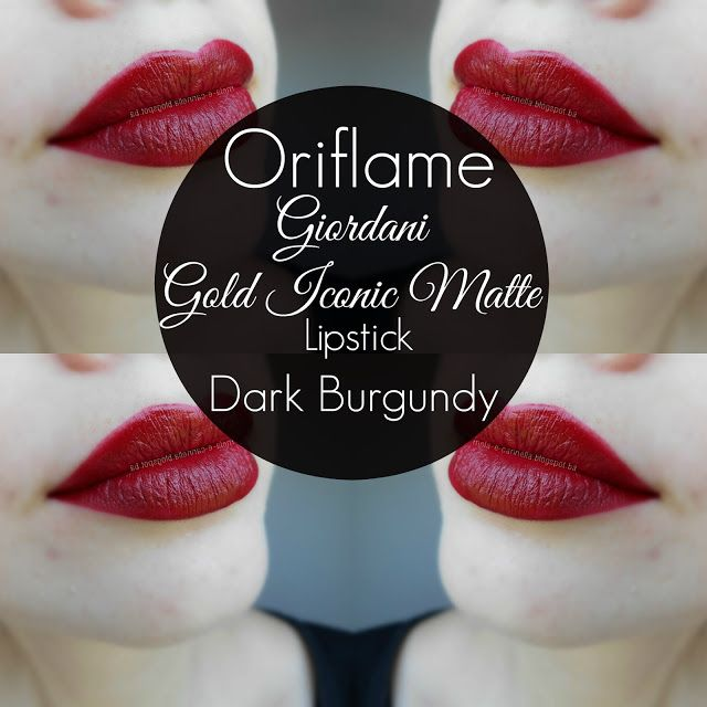 Oriflame - Giordani Gold Iconic Matte Lipstick - Dark Burgundy matte Oriflame ruž
