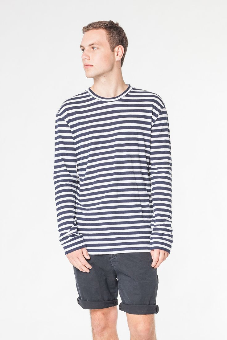 TOUR STRIPE LONG SLEEVE TEE - TEES AND TANKS - SHOP MENS Assembly Label