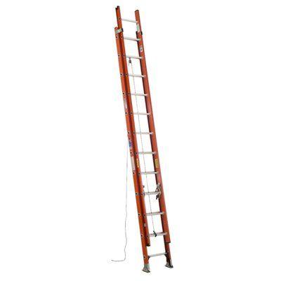 Werner 24-ft D-Rung Fiberglass Type IA Extension Ladder
