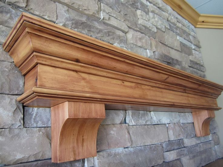 fireplace mantel shelf summit corbels knotty alder