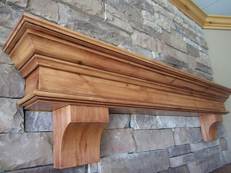 Fireplace Mantel Shelf Summit Corbels Knotty Alder