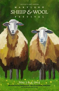 Wool & Sheep Festival - Howard County Fairgrounds in West Friendship Maryland. May 3 - May 4,  2014.