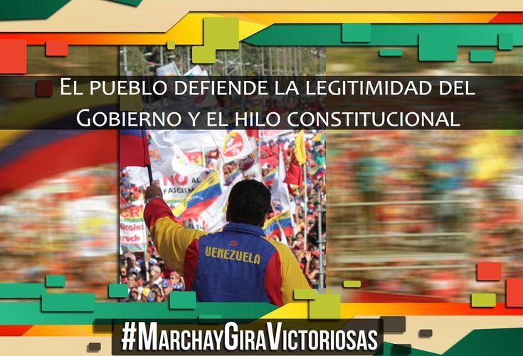@HogarDeLaPatria : Hoy el pueblo toma las calles para defender la Patria grande que nos legó Bolívar y Chávez #MarchaYGiraVictoriosas